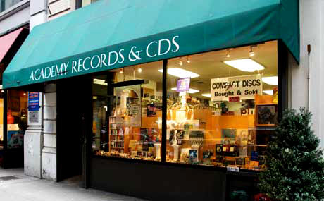 Academy Records and CDs is located at 12 W. 18th St. near Union Square