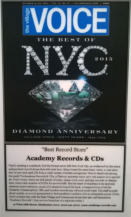 Best Record Store 2015 Academy Records & CDs - Village Voice