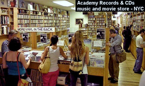 Academy-Records com | retail music and movie store, NYC